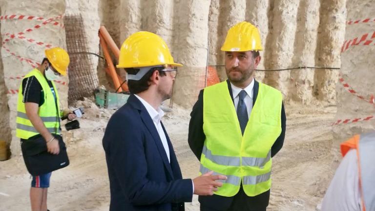 Nodo ferroviario di Palermo, visita al cantiere con il Vice Ministro Giancarlo Cancelleri